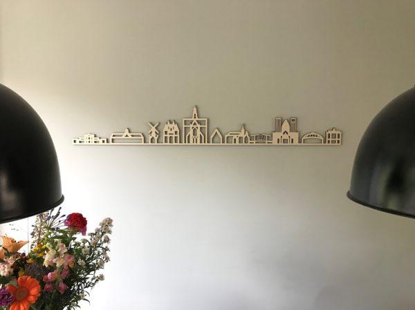 Houten Skyline Haarlem zonder tekst
