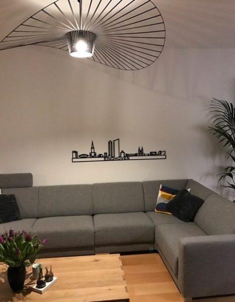 Eindhoven skyline zwart