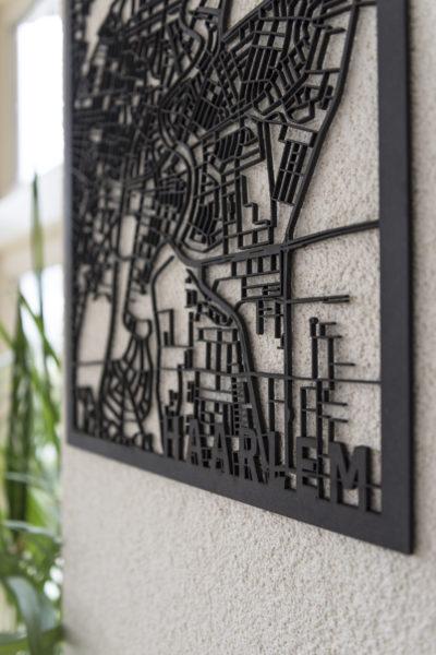Haarlem stadskaart zwart