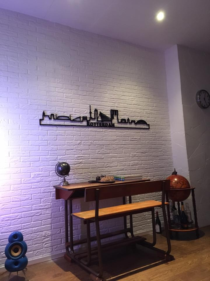 Rotterdam 130cm zwart kunststof