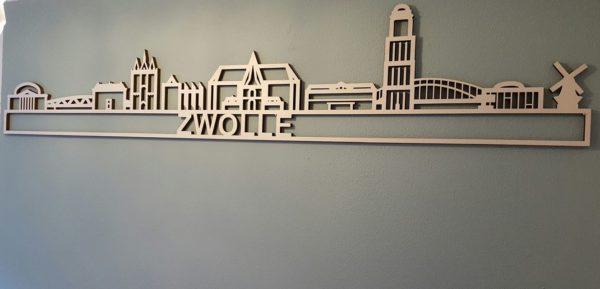 Populieren houten skyline Zwolle