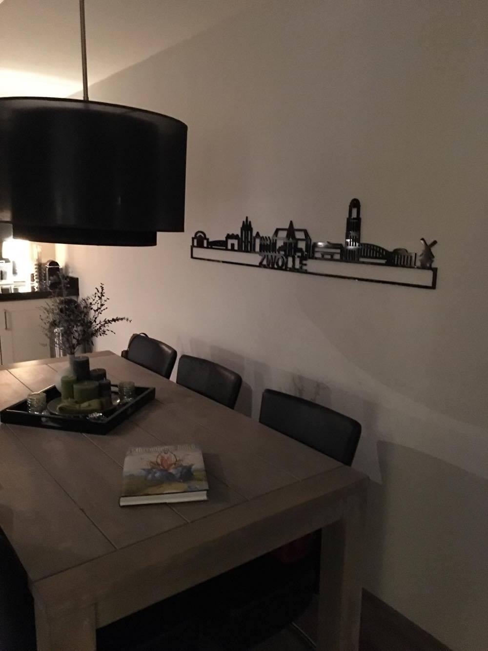 Zwolle 170cm zwart kunststof