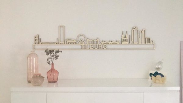 Tilburg skyline hout