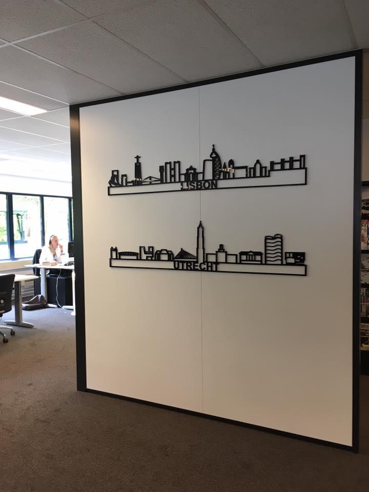 Utrecht + Lissabon 170cm zwart kunststof