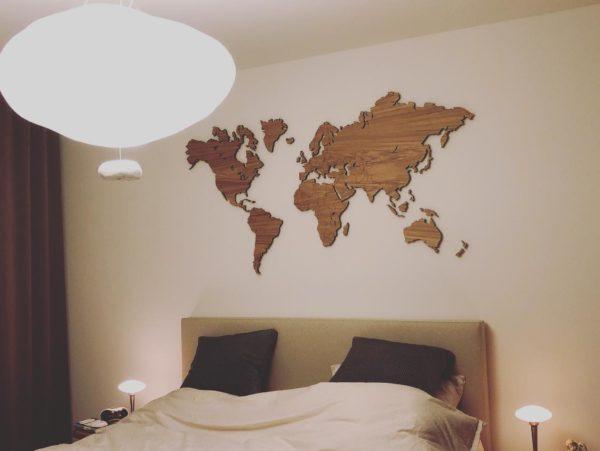 eikenhout wereldkaart