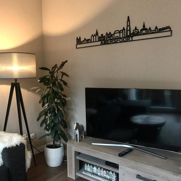 Skyline Amersfoort zwart kunststof