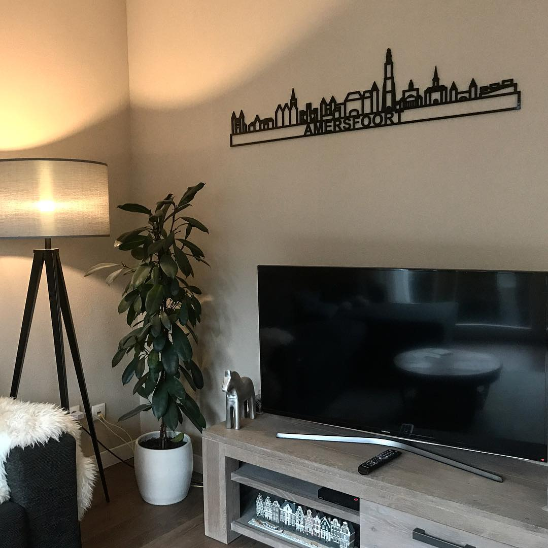 Amersfoort 130cm zwart kunststof