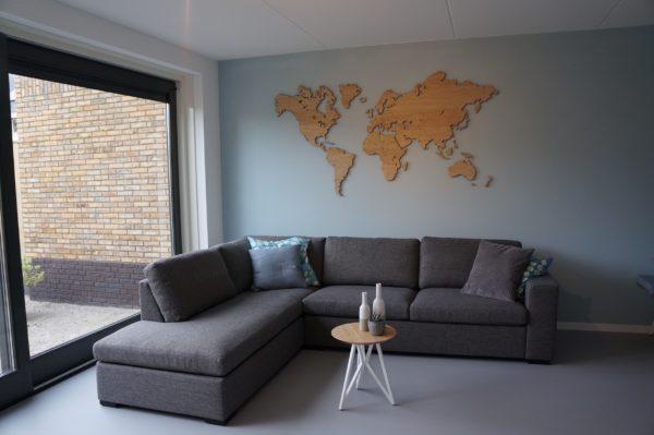 Wereldkaart hout eiken