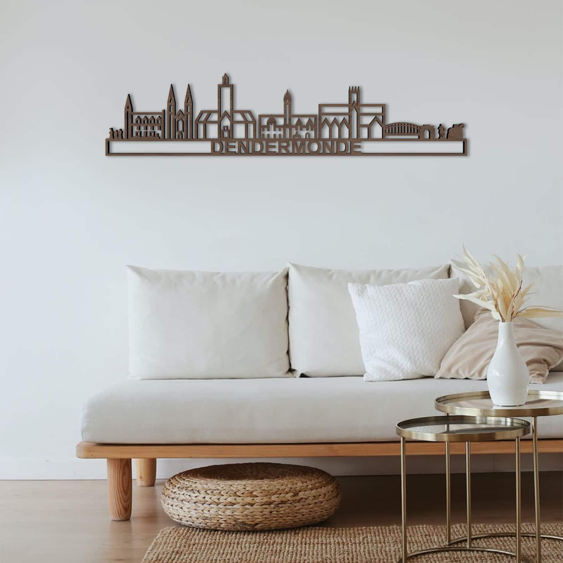 Skyline Dendermonde notenhout