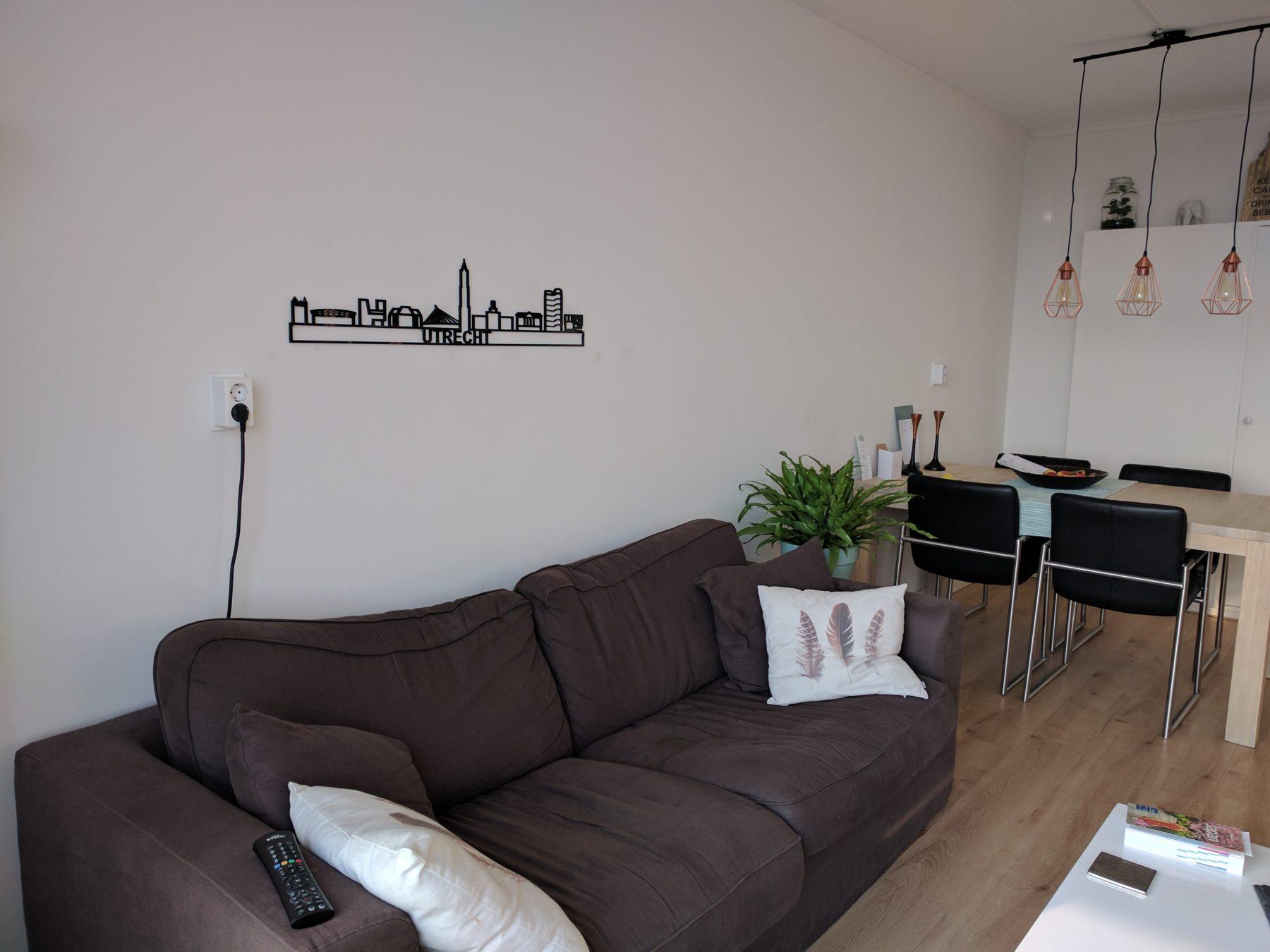 Utrecht 95cm zwart kunststof