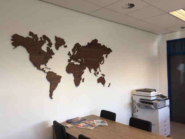 Wereldkaart hout noten
