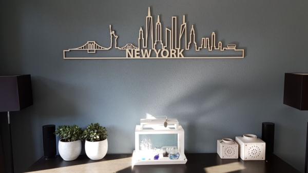 Houten skyline New York