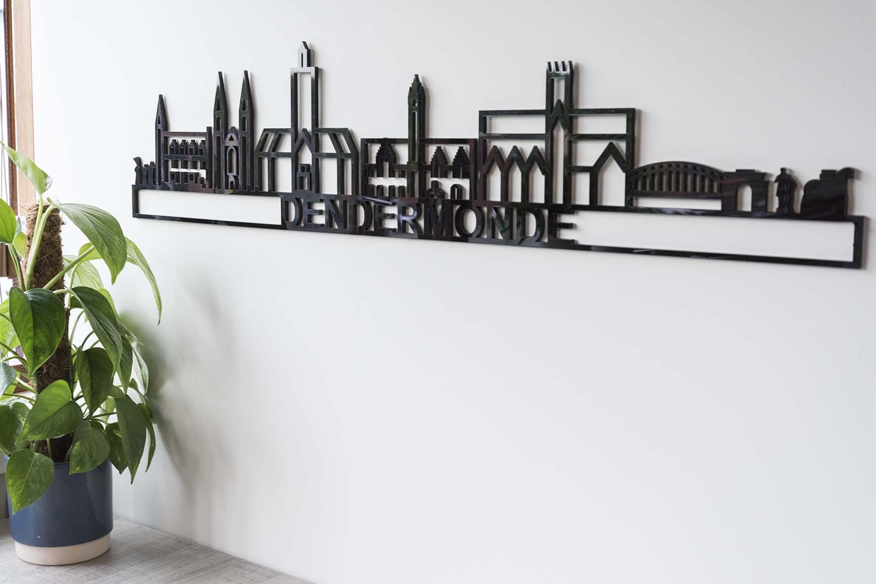Skyline Dendermonde zwart kunststof