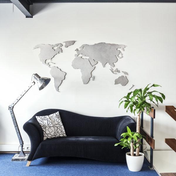 wereldkaart rvs