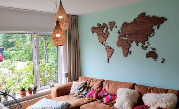 notenhout wereldkaart