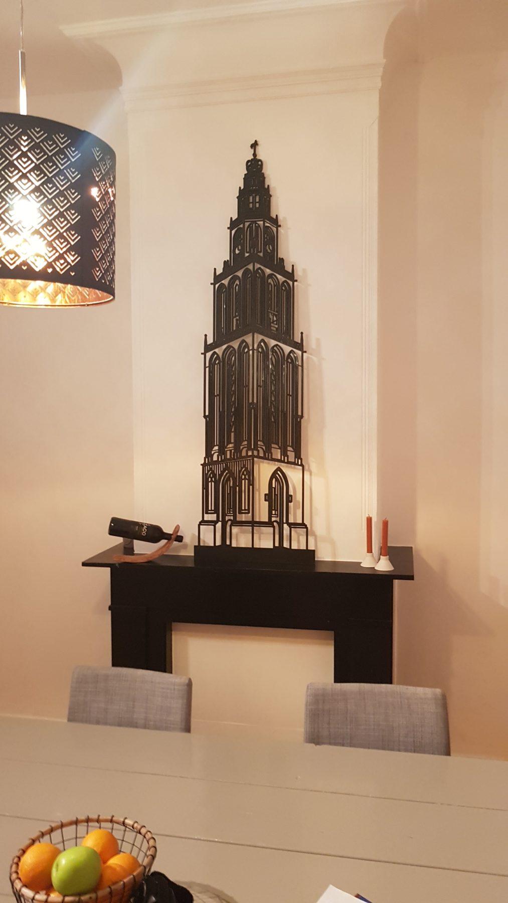 Martinitoren 95cm zwart mdf
