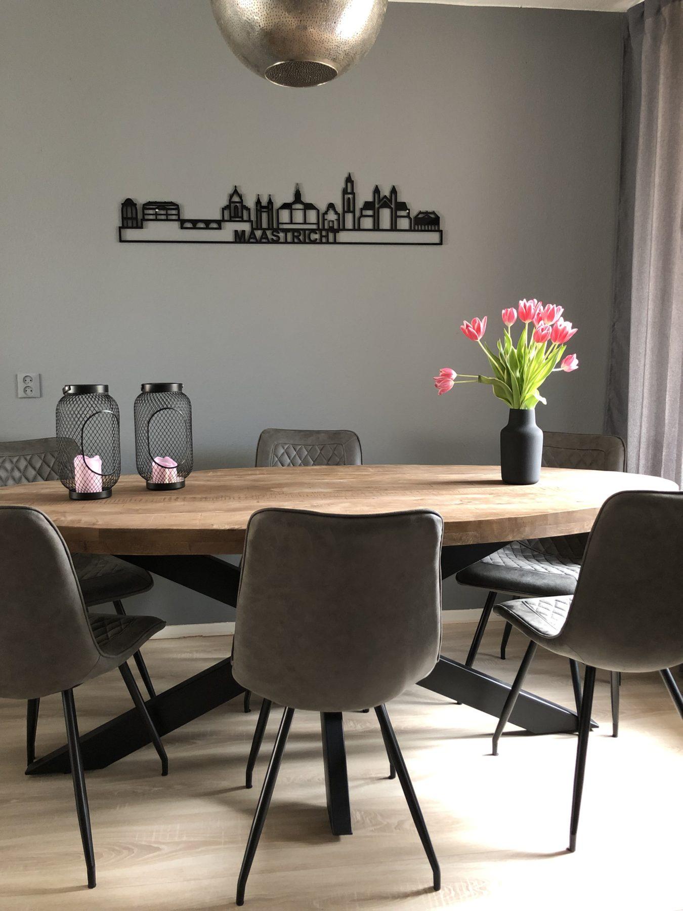 Maastricht 130cm zwart kunststof