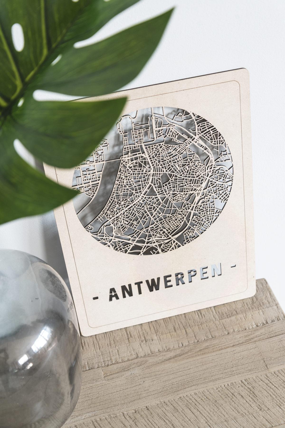 Stadskaart Antwerpen hout