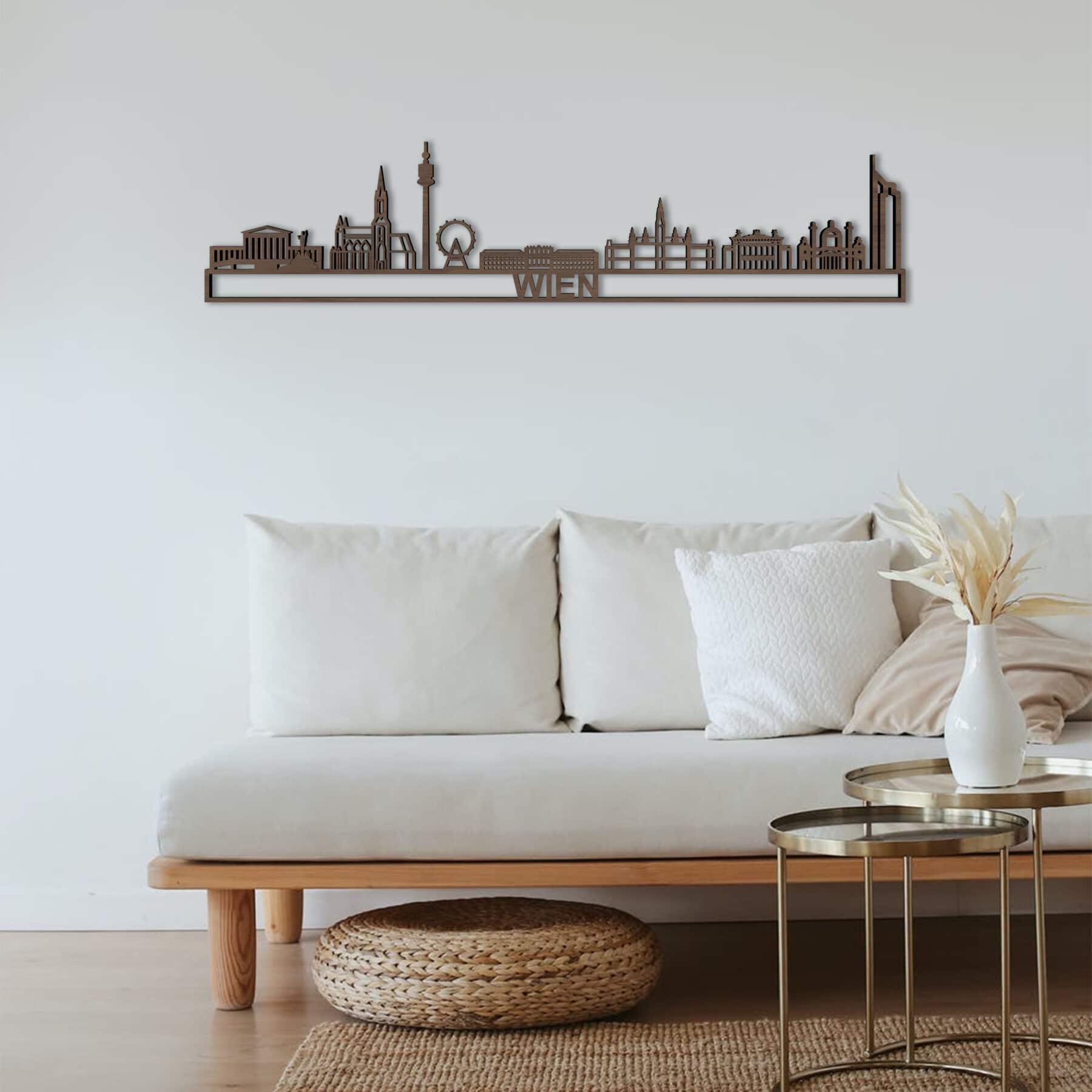 Skyline Wien notenhout