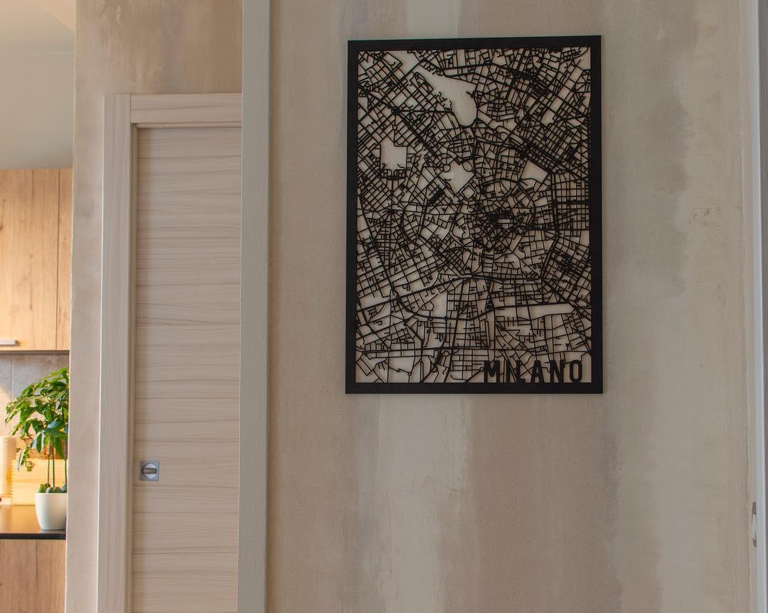 Milano 50x70 zwart mdf
