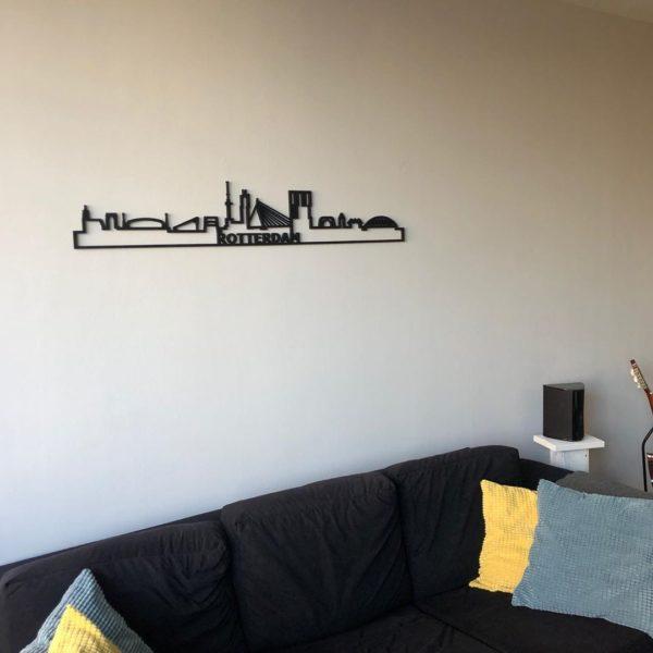 Zwart hout Skyline Rotterdam