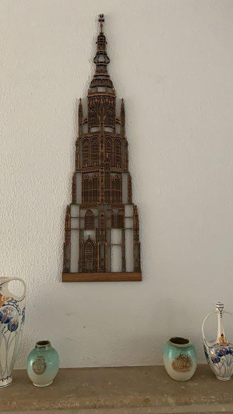 Grote kerk Breda 95cm eiken
