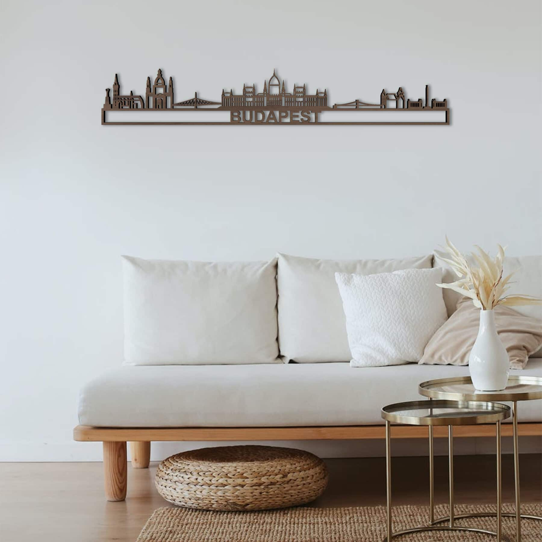 Skyline Budapest notenhout