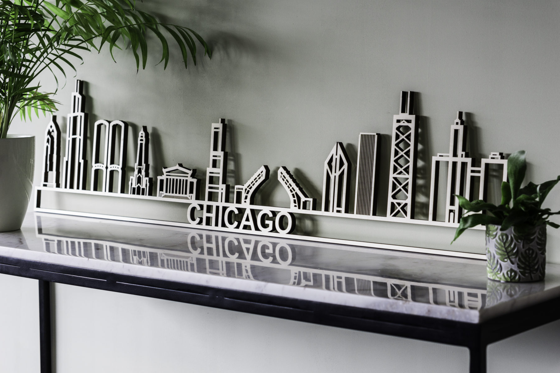 Skylin Chicago hout