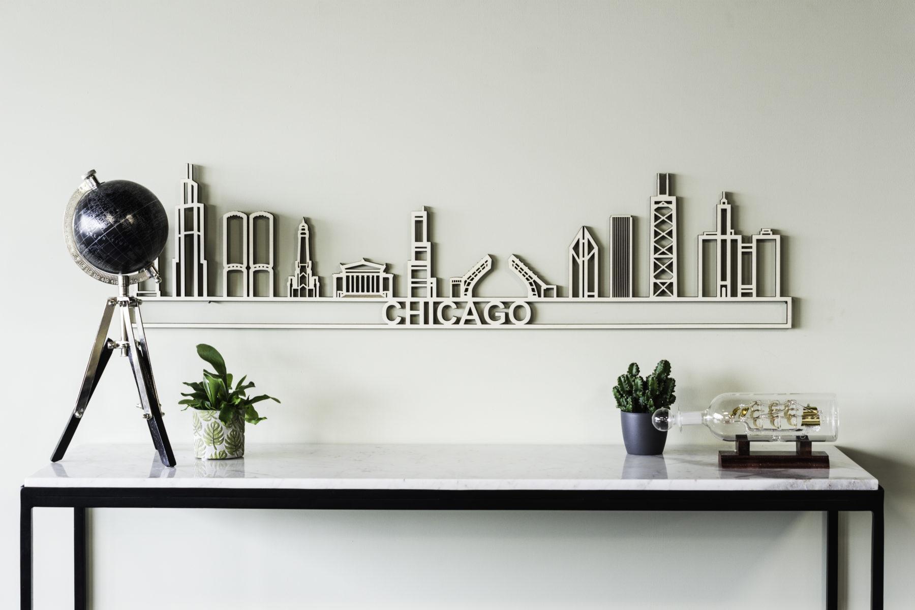 Houten skyline Chicago