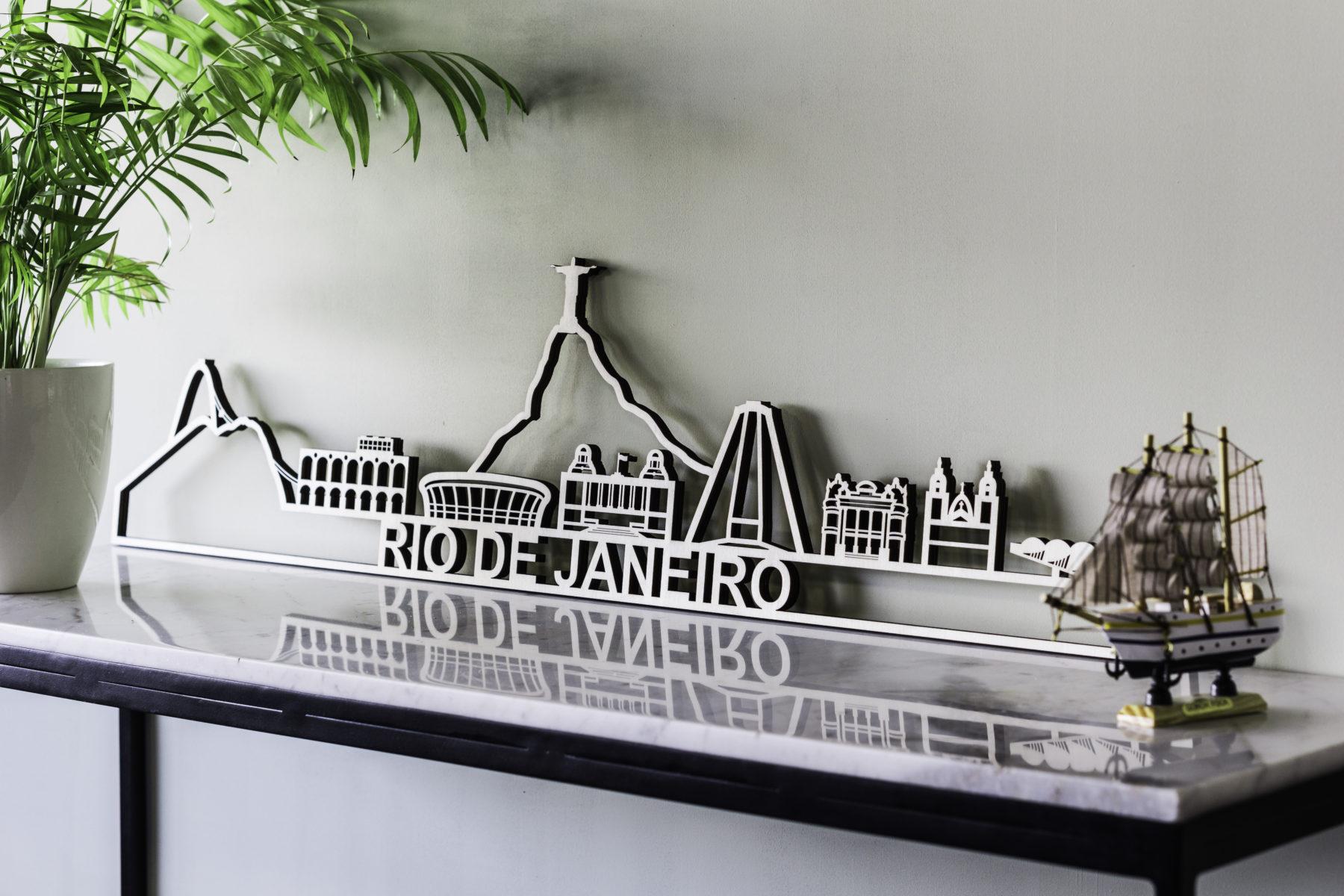 Houten skyline Rio de Janeiro