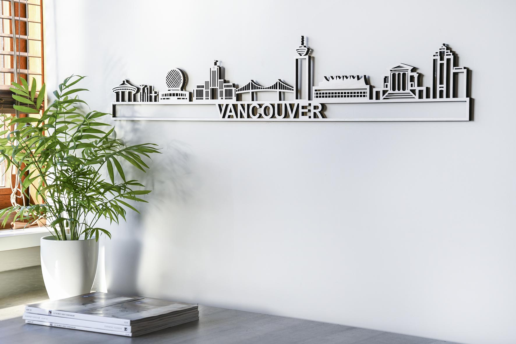 Skyline Vancouver populierenhout