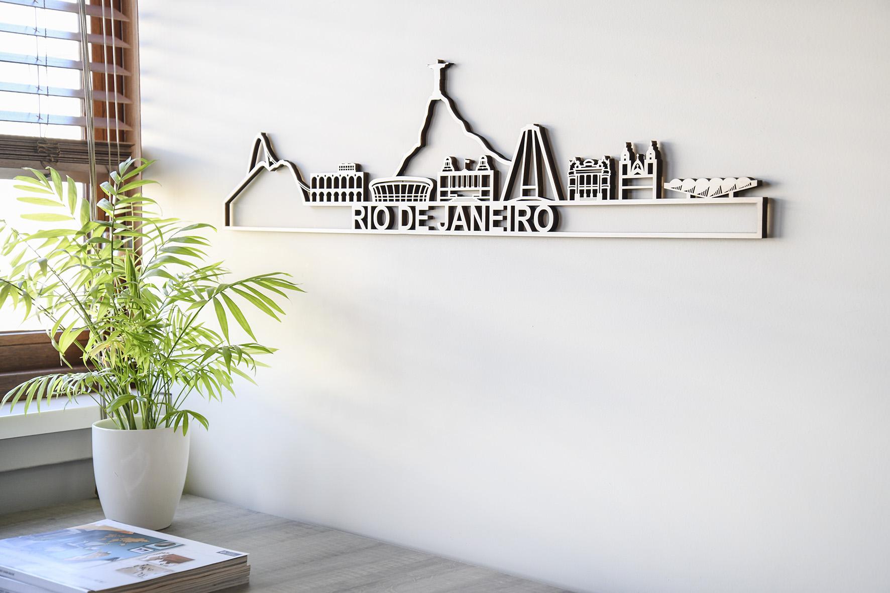Skyline Rio de Janeiro hout