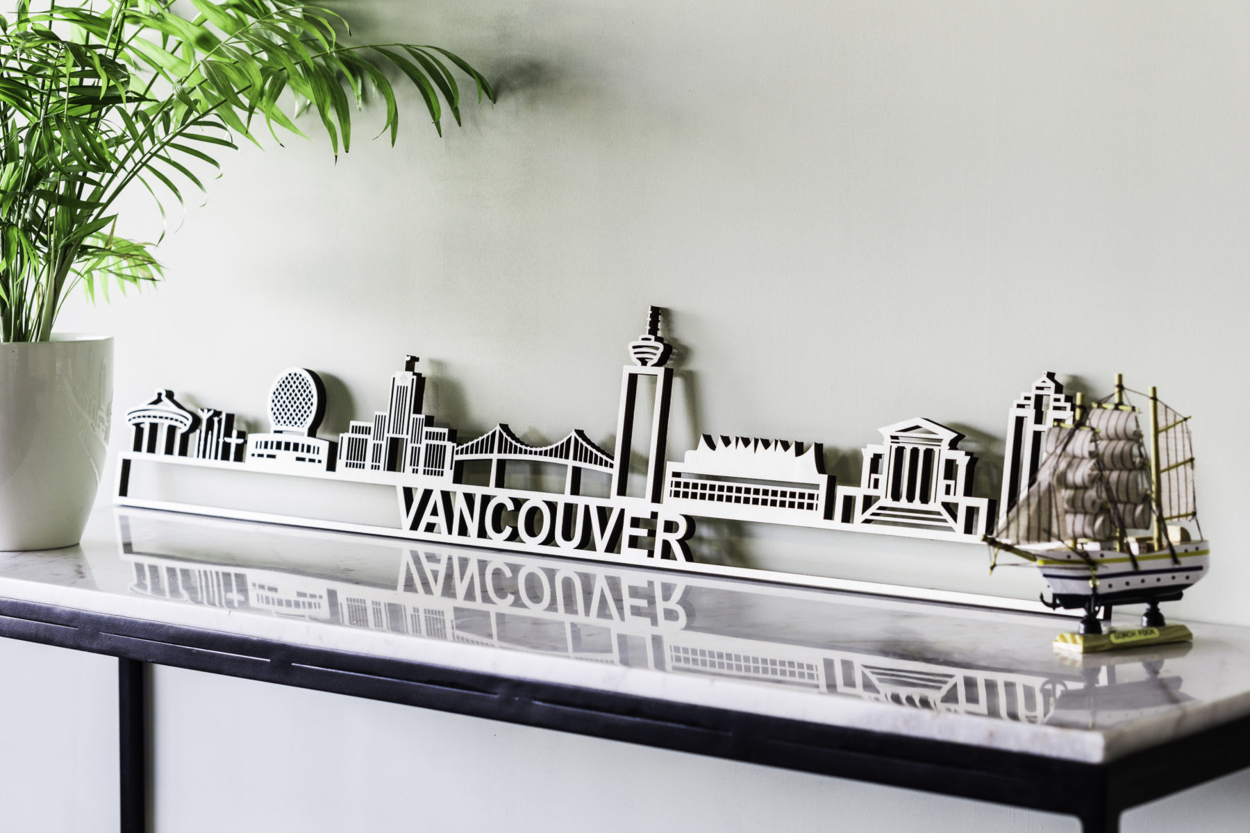 Skyline Vancouver hout