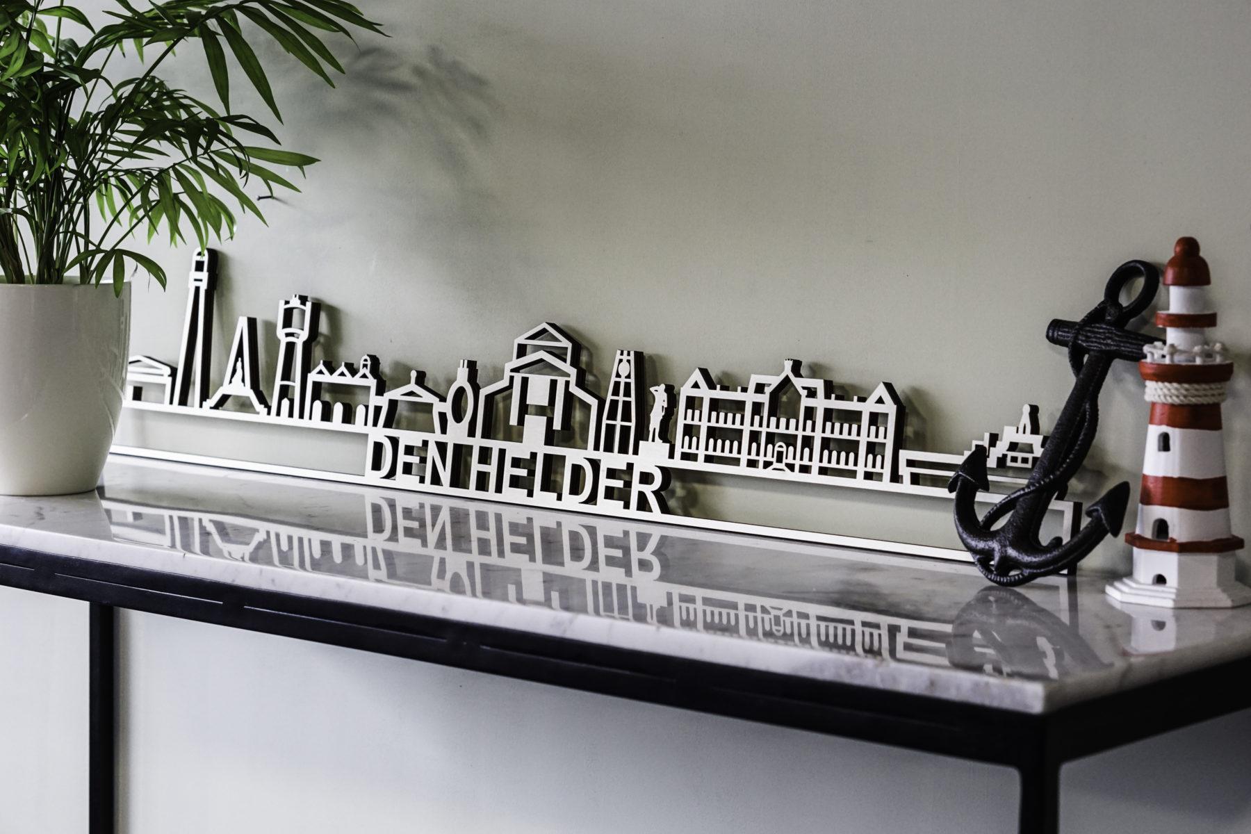 Den Helder skyline hout