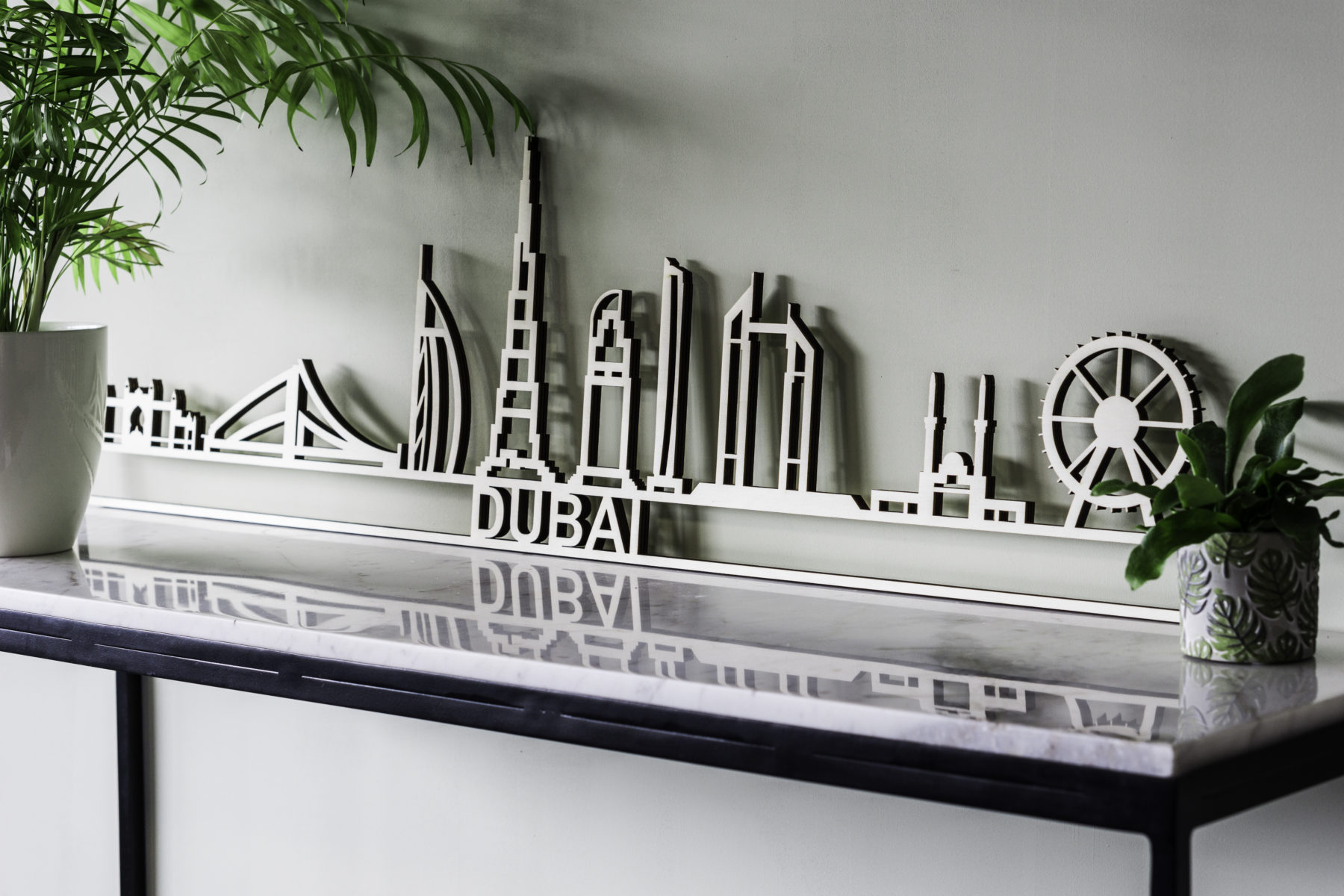 skyline Dubai hout