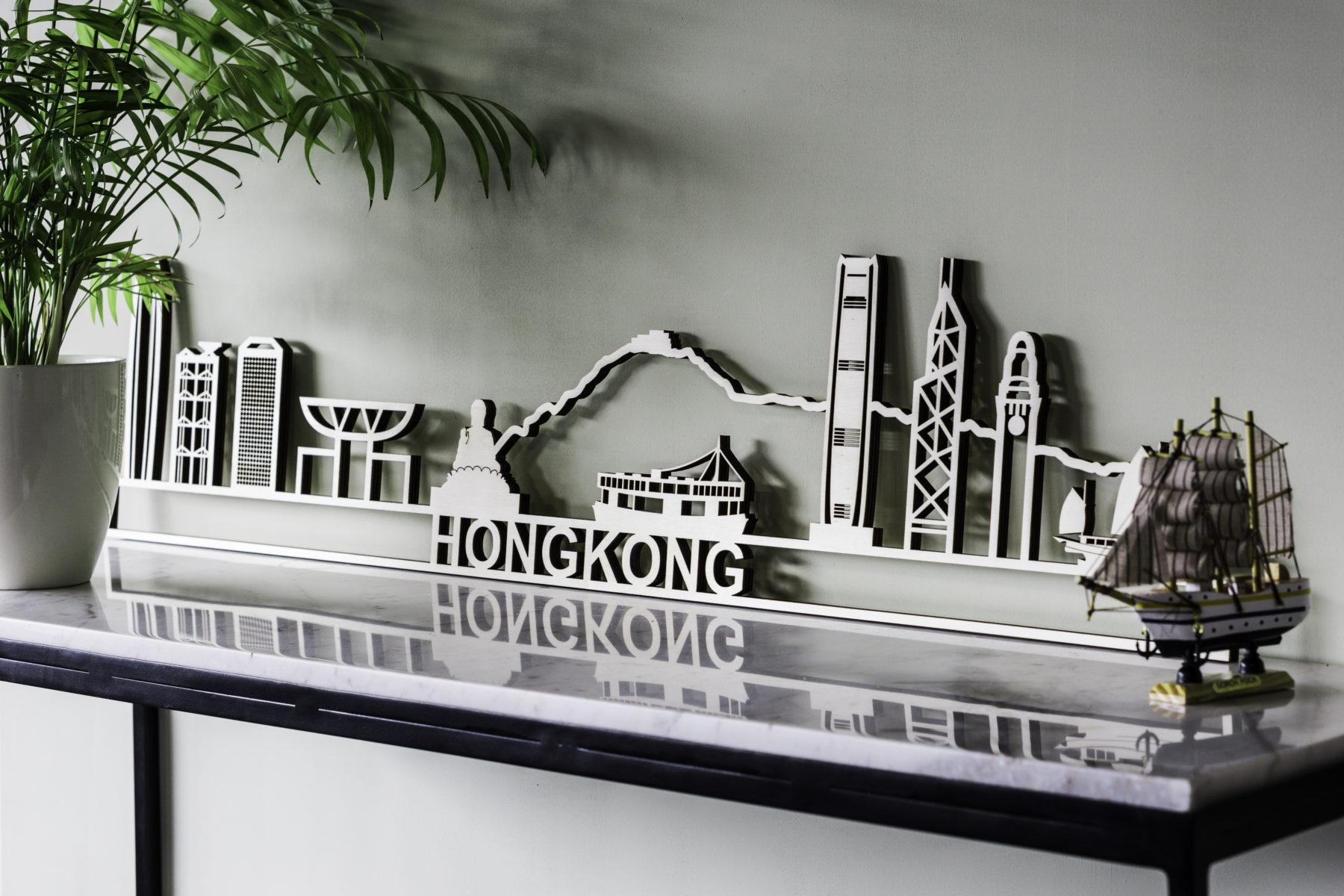 Hong kong skyline hout