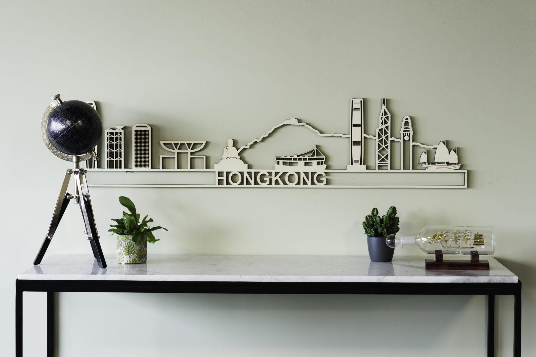 Houten skyline Hong kong
