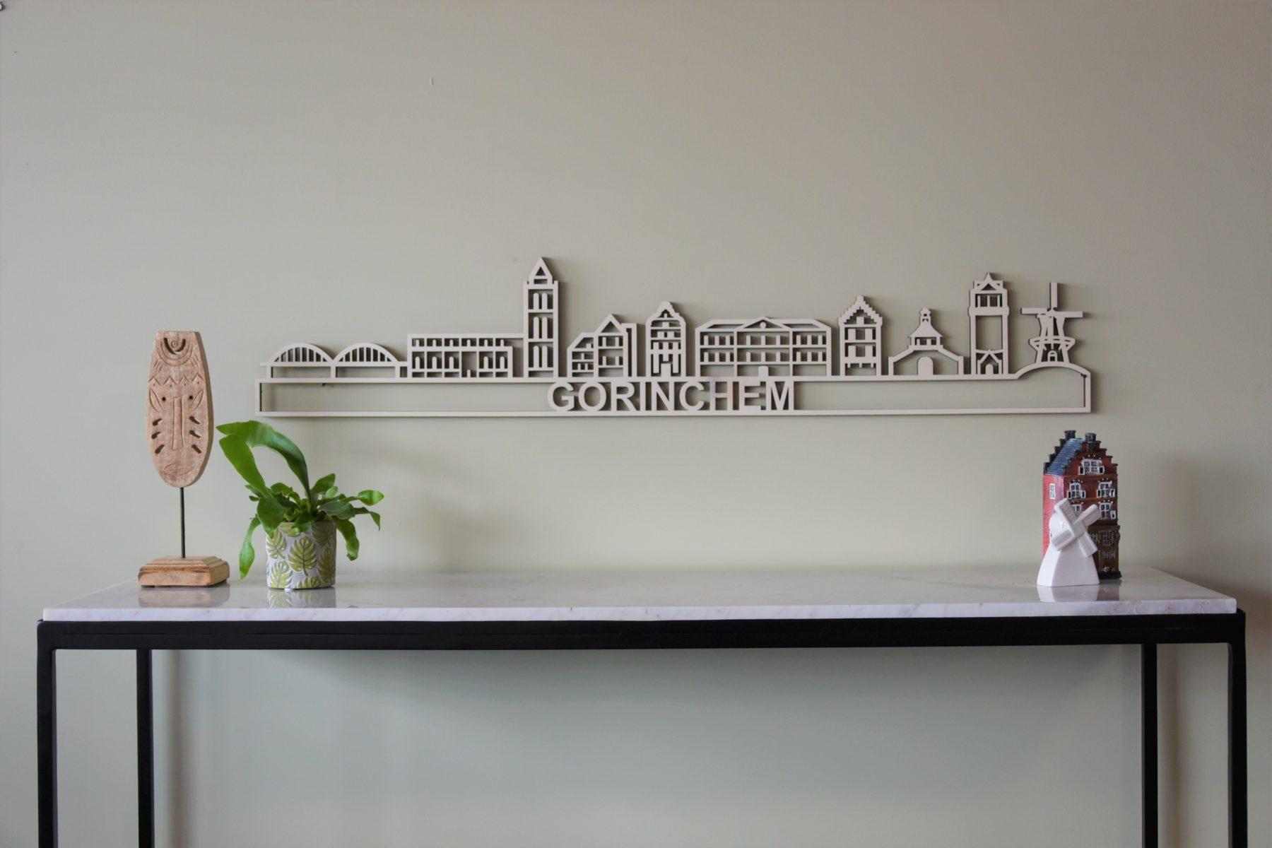 Houten skyline Gorinchem populieren