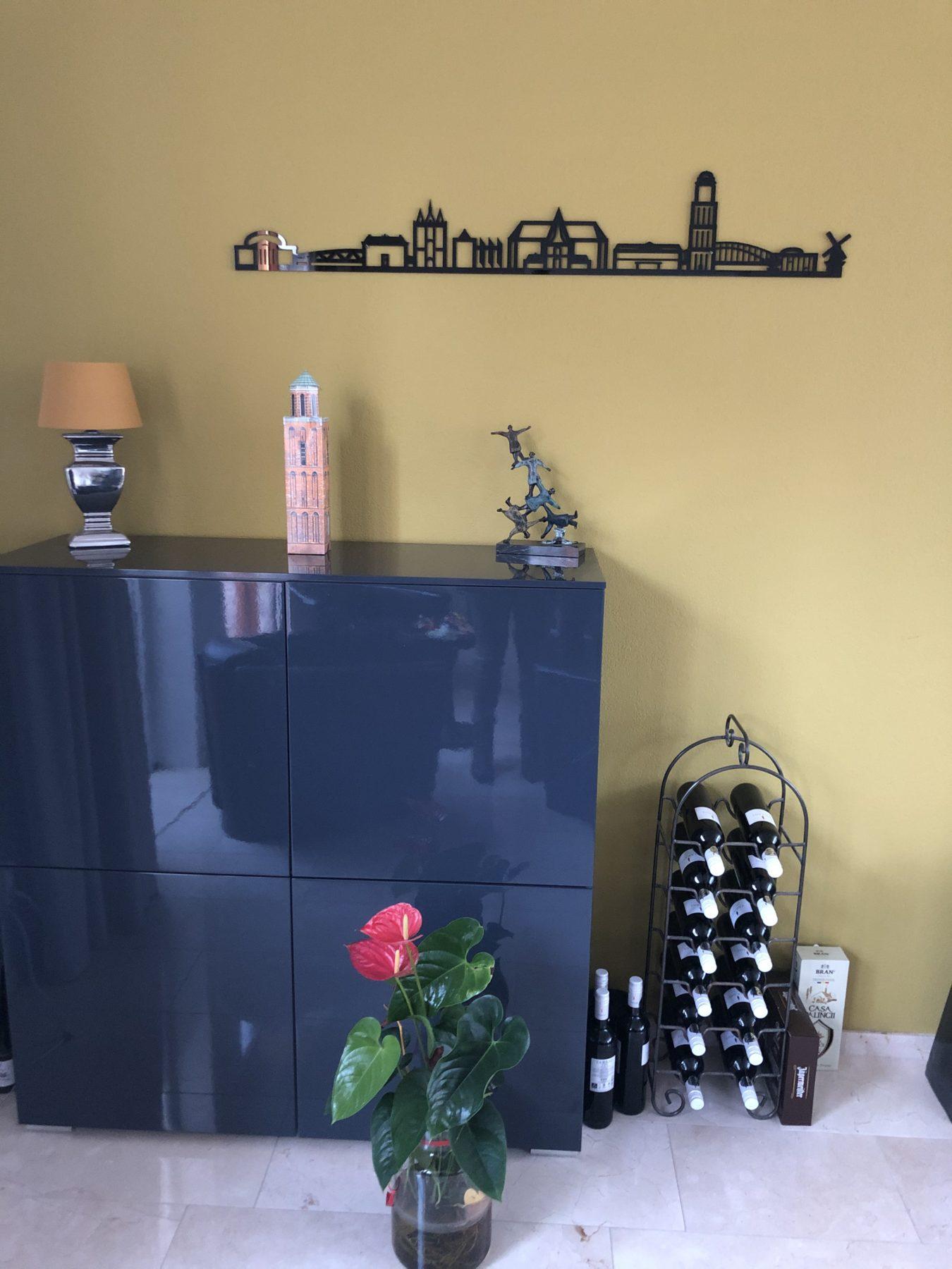 Zwolle 90cm zwart kunststof zonder tekst