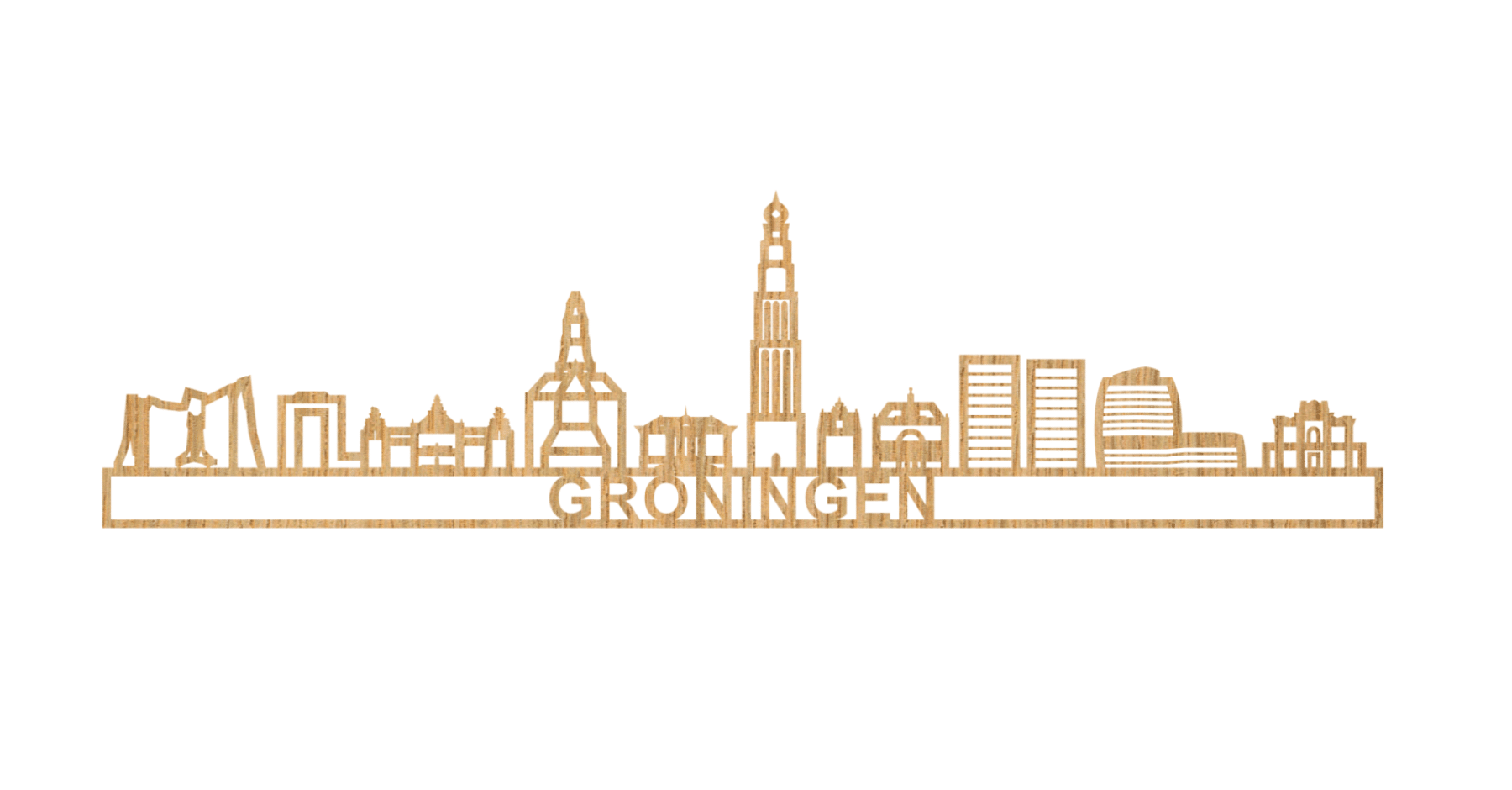 Groningen 60cm hout
