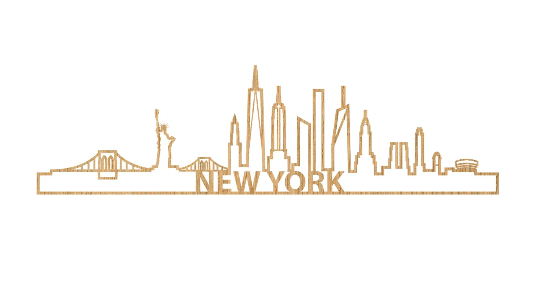 Skyline New York 60cm hout