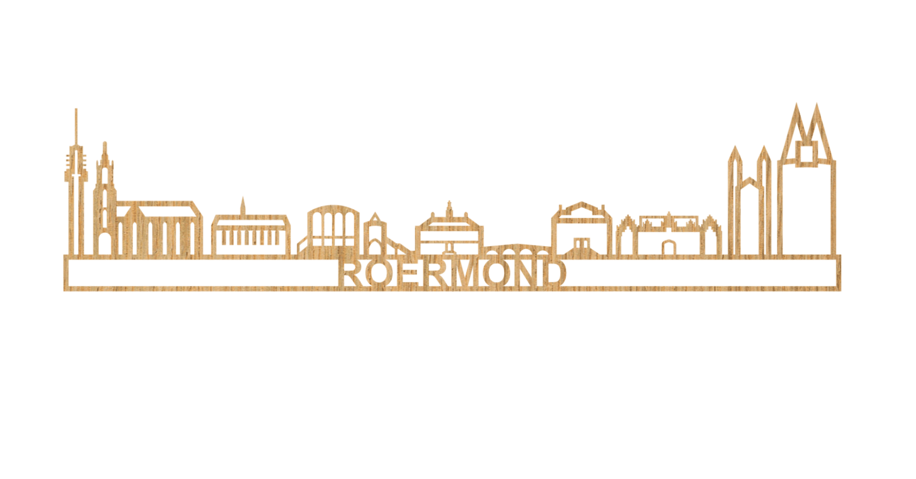 Skyline Roermond 60cm hout